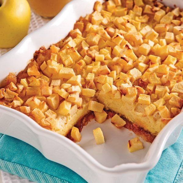 Pouding au pain moelleux pommes-poires