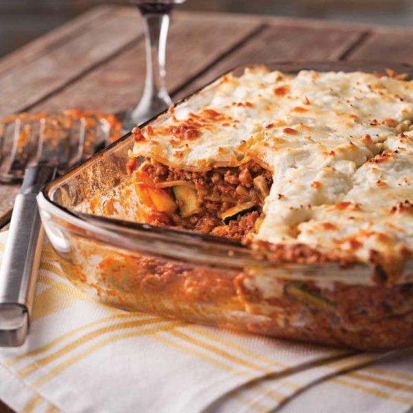 Lasagne au boeuf et légumes