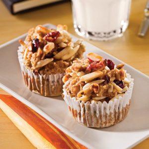 Muffins multigrains «pouding au pain»