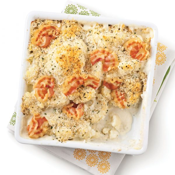 Gratin de chou-fleur et pancetta