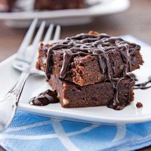 Brownies au chocolat noir et haricots rouges