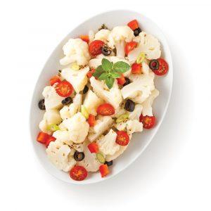 Chou-fleur en salade à la grecque