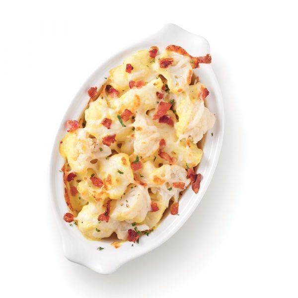 Chou-fleur en gratin avec bacon