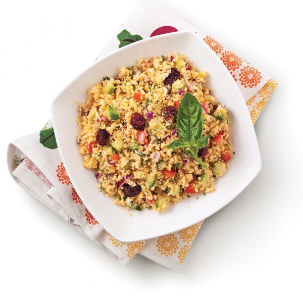 Salade croquante de chou-fleur aux canneberges