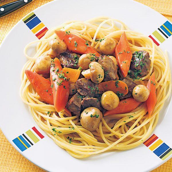 Bœuf aux légumes milanais