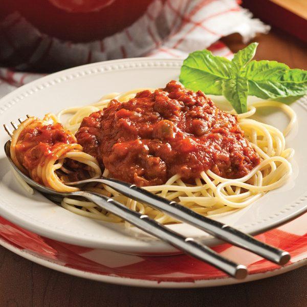 Sauce à spaghetti aux trois viandes