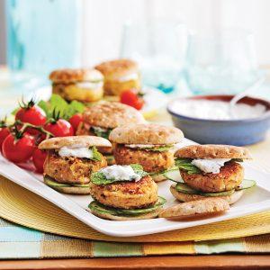 Mini-burgers falafels