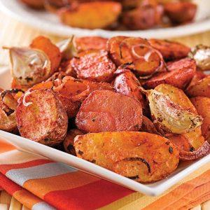 Pommes de terre tandoori et ail grillé