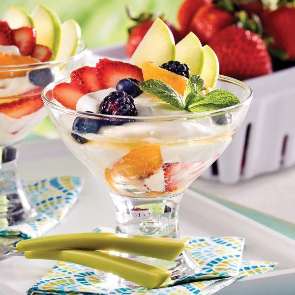 Coupes fruitées lime, menthe et Grand Marnier