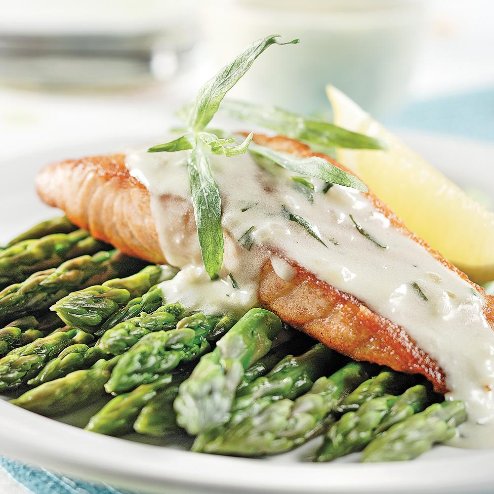Filets de saumon, sauce à l'estragon