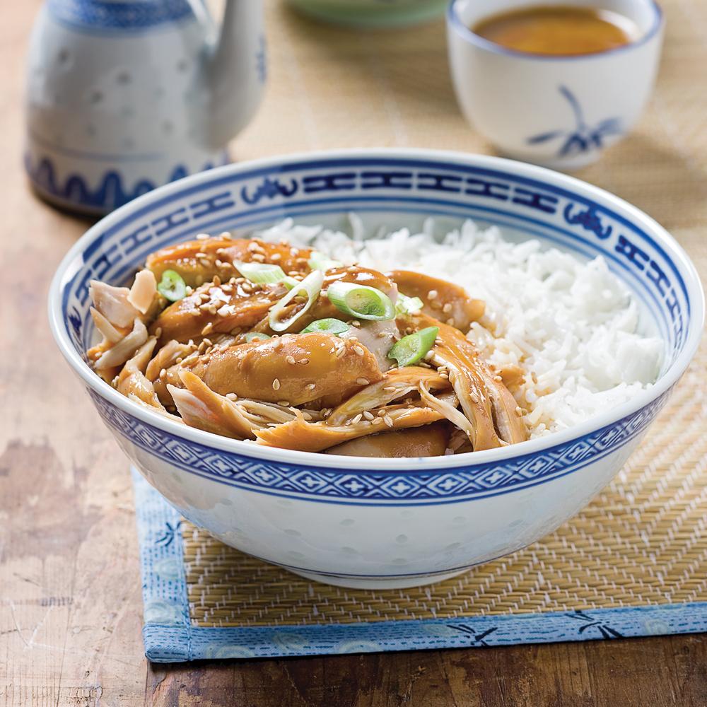 Cuisses de poulet, sauce asiatique