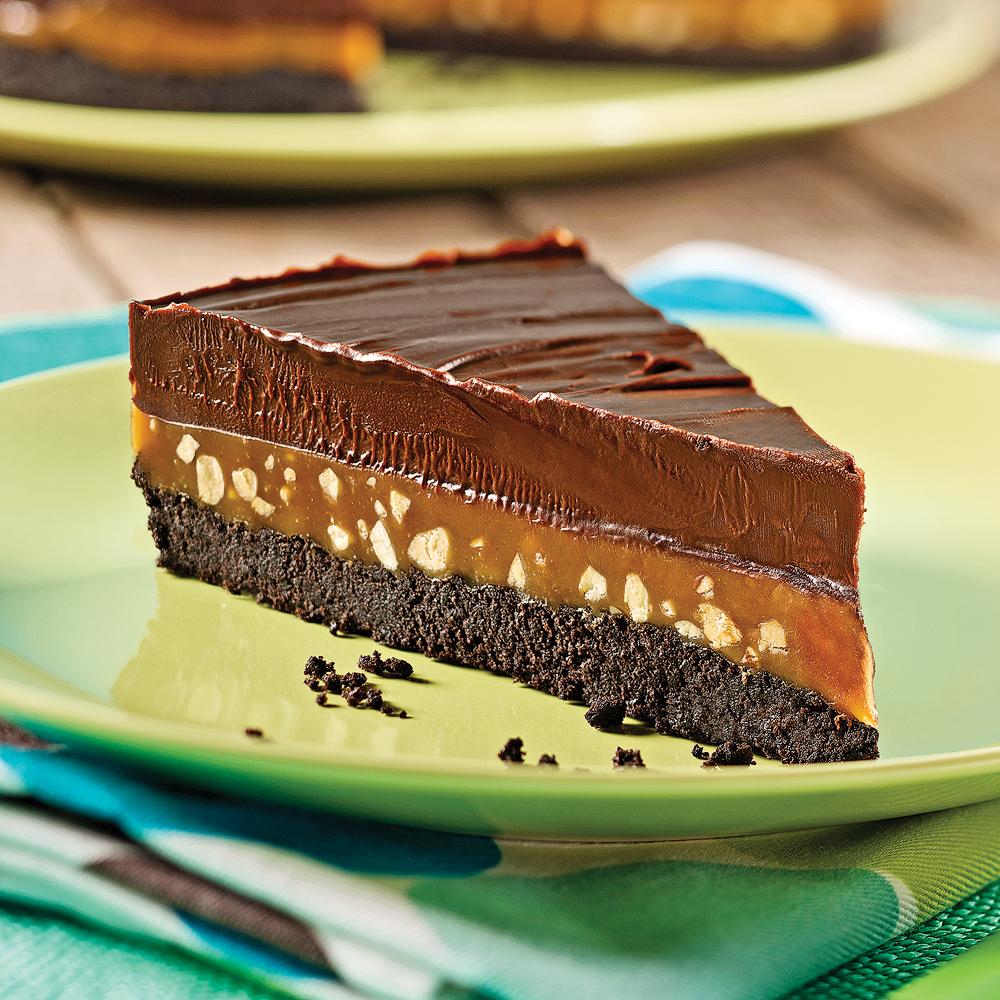 Tarte sublime au chocolat, caramel et arachides