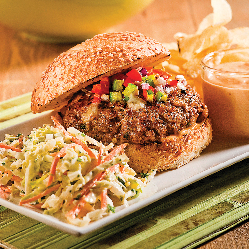 Burgers au porc barbecue