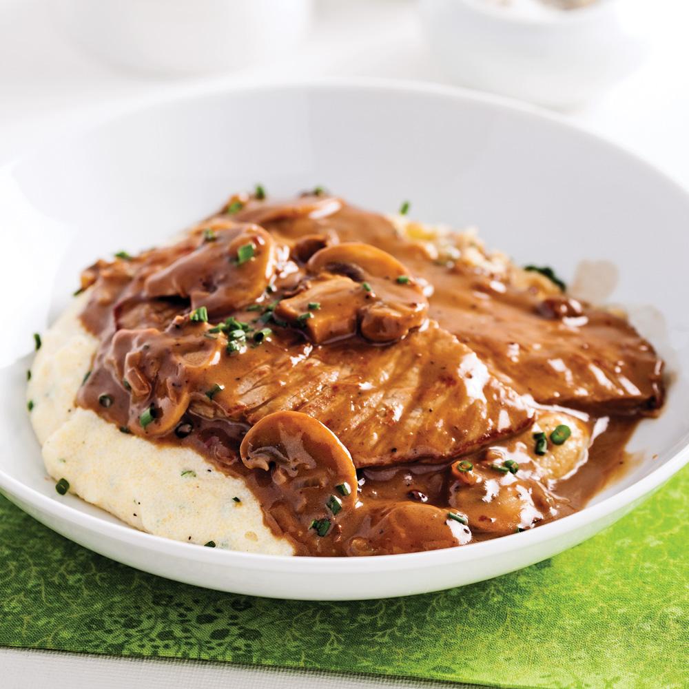 Escalopes de veau, sauce marsala et poivre