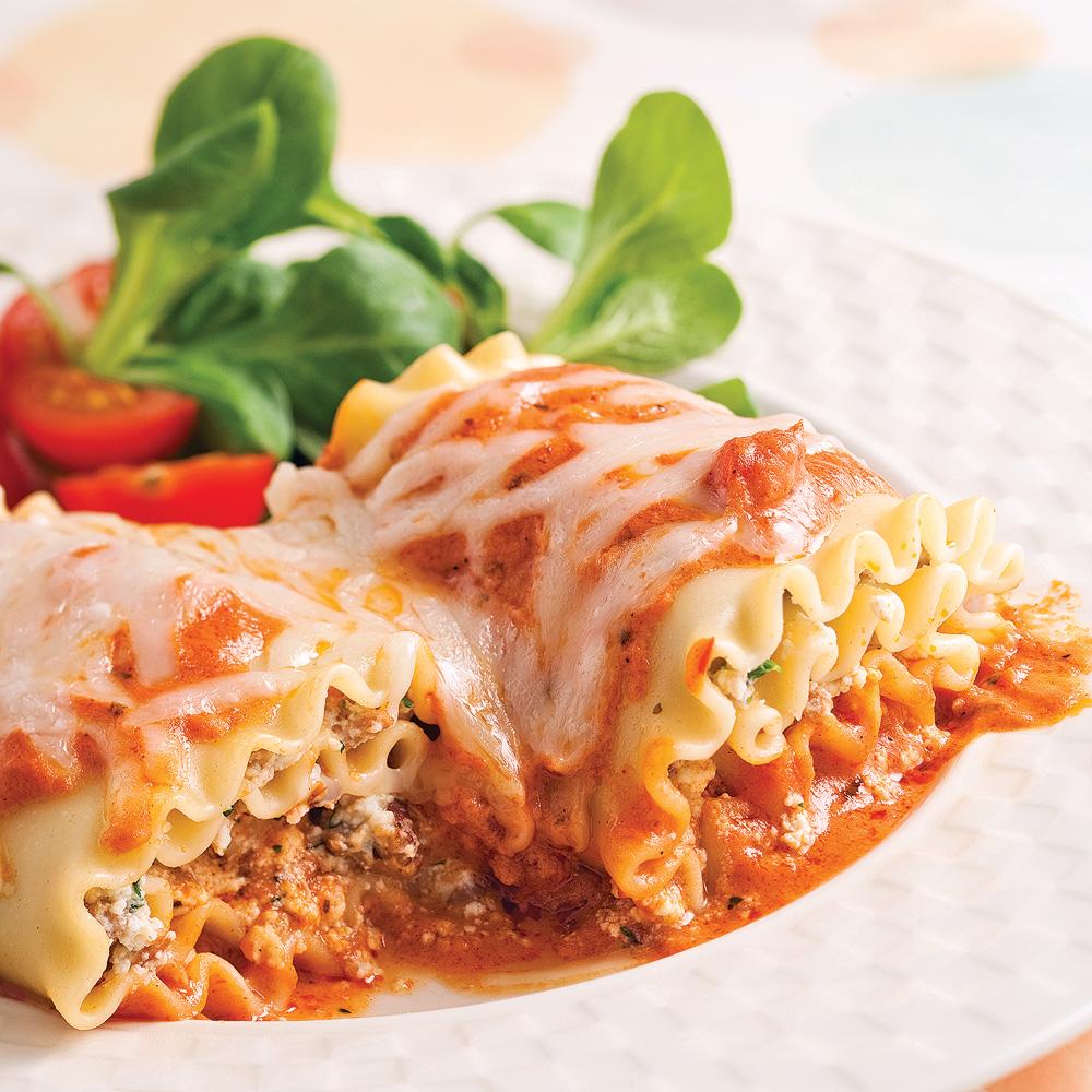 Rouleaux de lasagne à la saucisse Buffalo