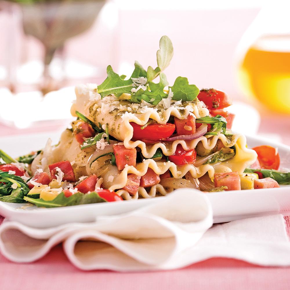 Lasagne express au jambon