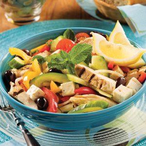 Salade de dindon à la grecque
