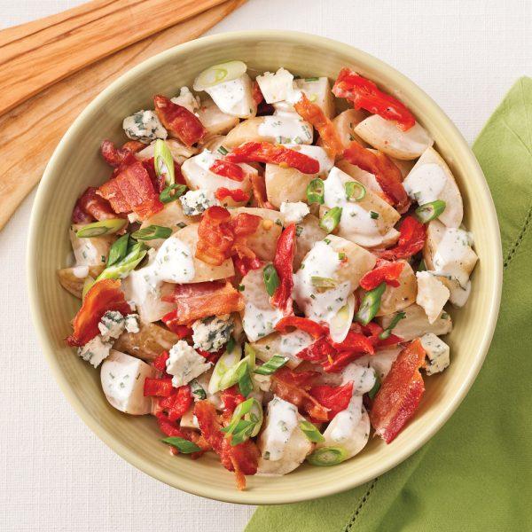 Salade crémeuse aux pommes de terre grelots et bacon