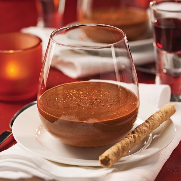 Mousse au chocolat et piment d'Espelette en verrine