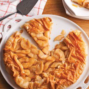 Tarte aux pommes et sirop d'érable en pâte phyllo