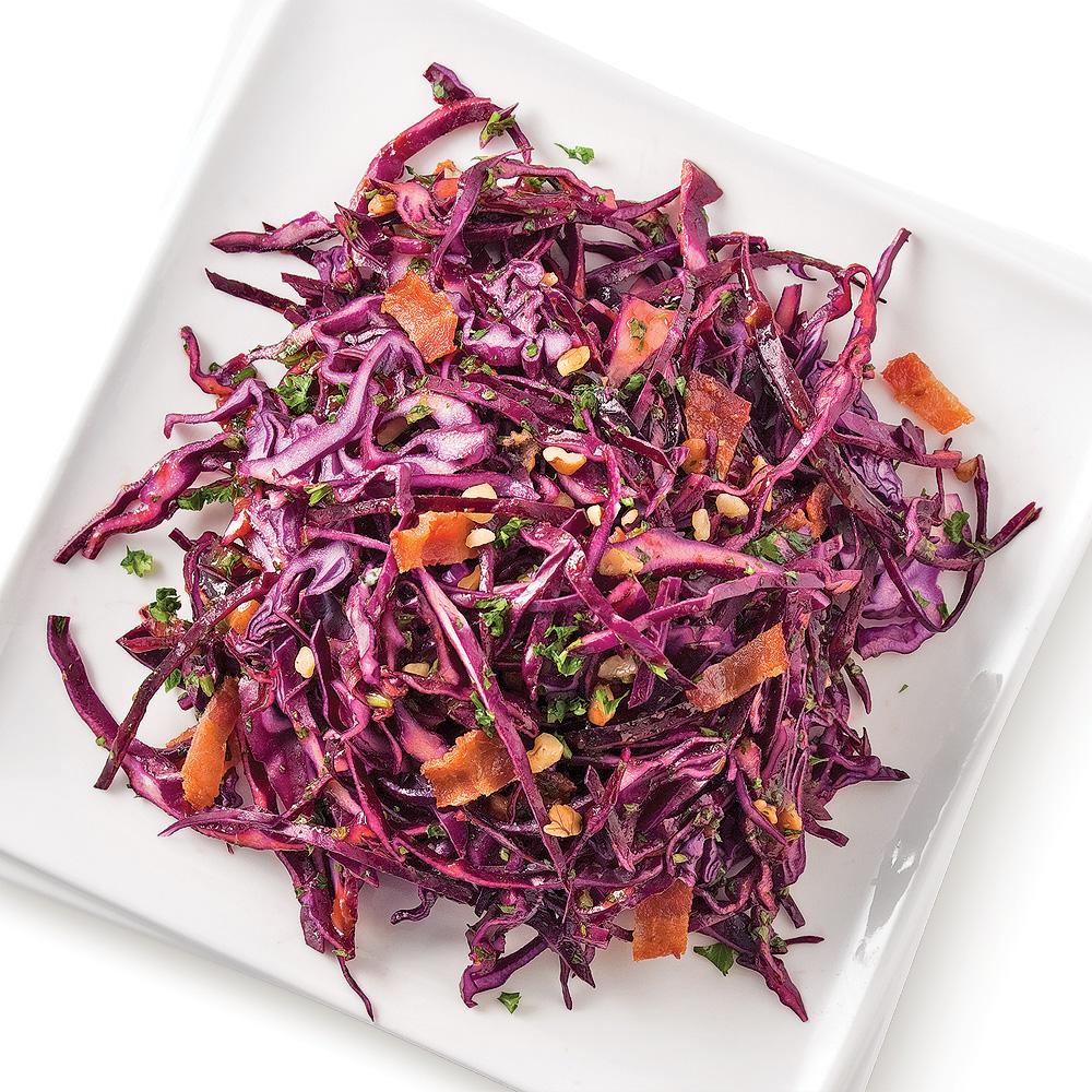 Salade de chou, vinaigrette barbecue à l'érable