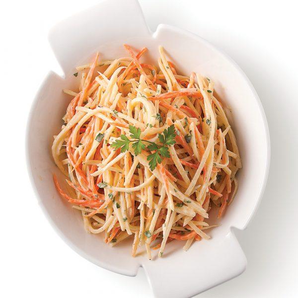 Salade croquante de rutabagas au parfum d'érable