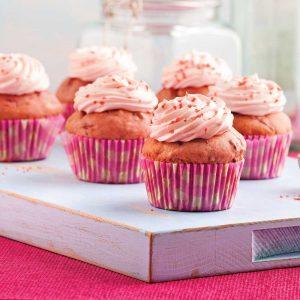Cupcakes roses à la betterave