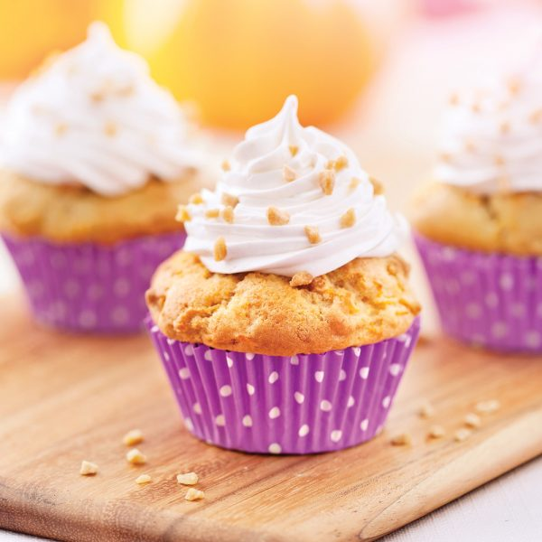 Cupcakes à la citrouille et au gingembre