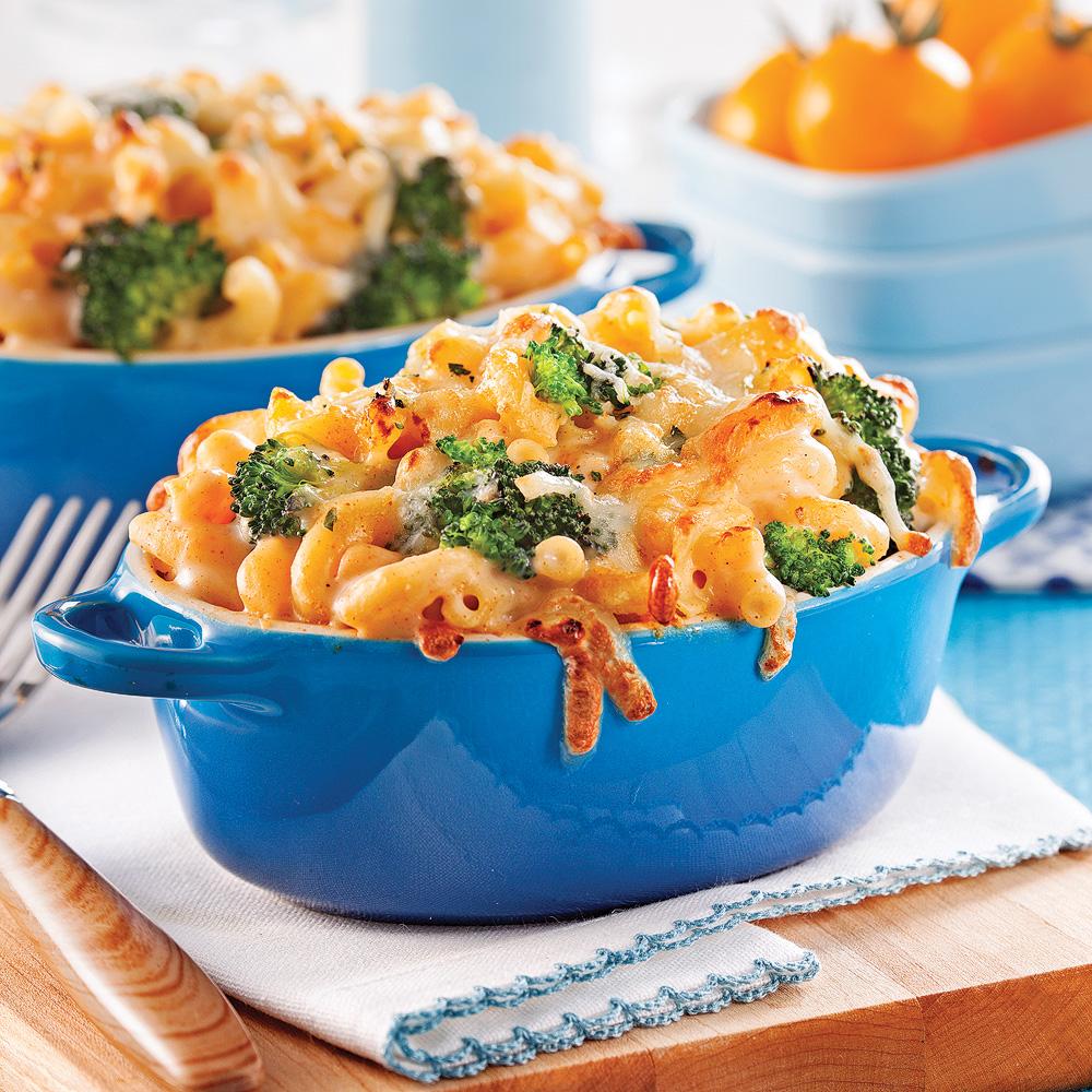 Cassolettes de macaroni au fromage