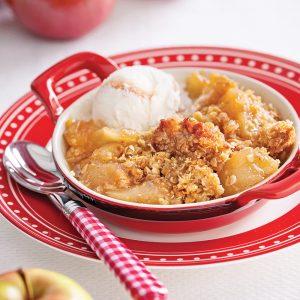 Croustade aux pommes à l'érable