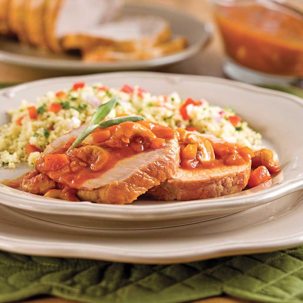 Rôti mijoté à la tomate et aux noix de cajou à la mijoteuse