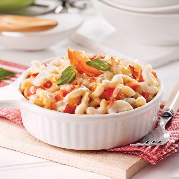 Macaroni au fromage et pancetta