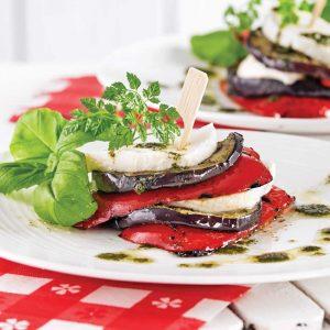 Étagé d'aubergine alla parmigiana