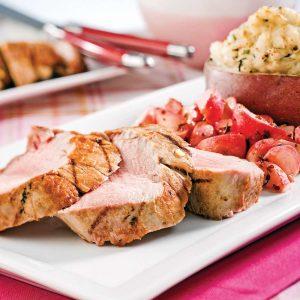 Filet de porc à l'érable, ail et gingembre