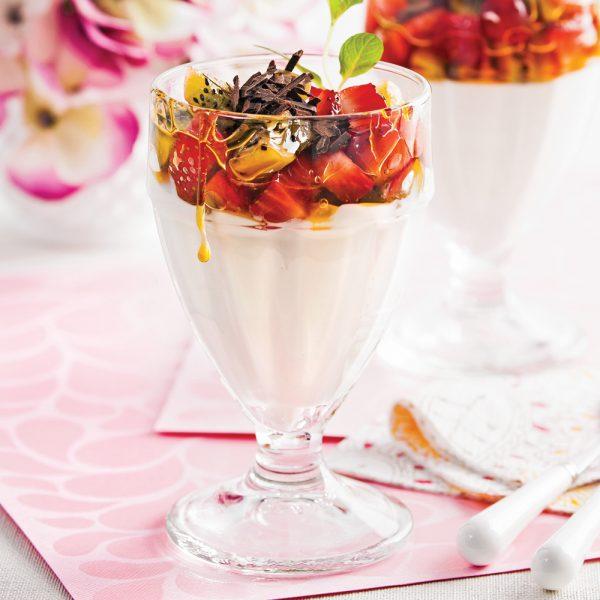 Yogourt choco-fruits à l'érable
