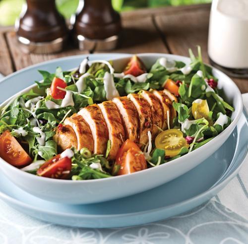 Salade de roquette au poulet grillé