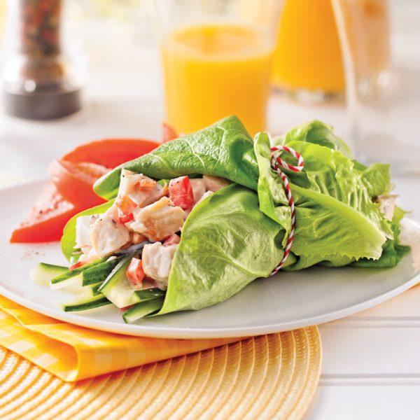 Wrap à la salade de poulet