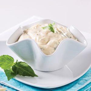 Sauce à fondue aïoli aux câpres et basilic