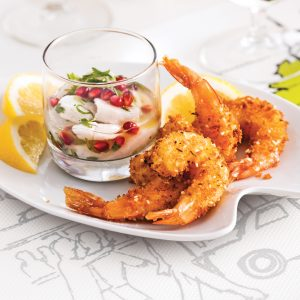Duo de fruits de mer croquants-fondants