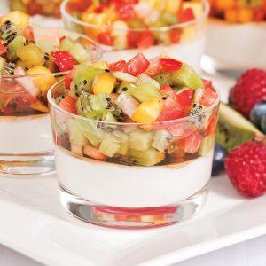 Yogourt à la salsa de fruits