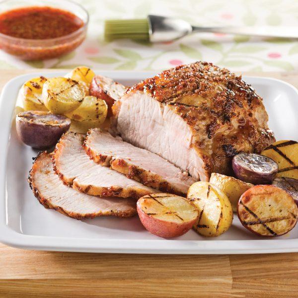 Rôti de porc à la gelée de pommes et à l'érable