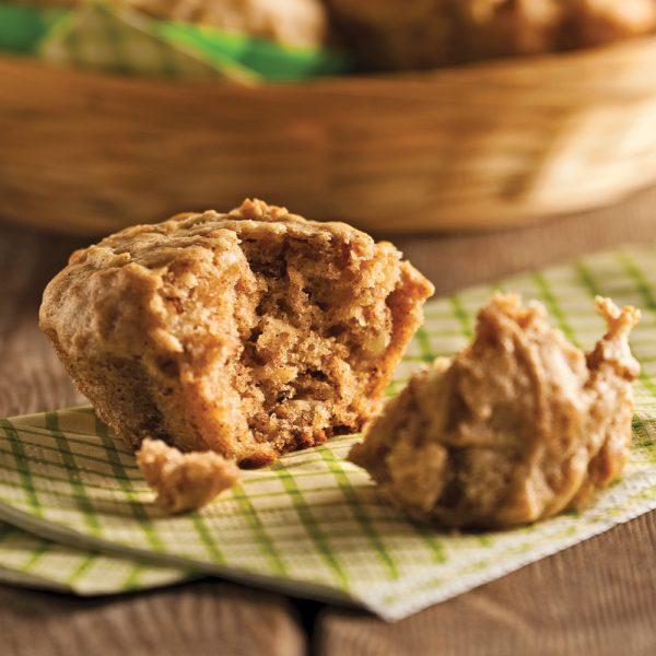 Muffins aux panais et aux poires