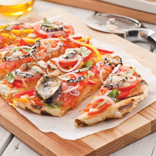 Pizza au chèvre et légumes