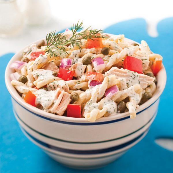 Salade de gemellis crémeuse au thon