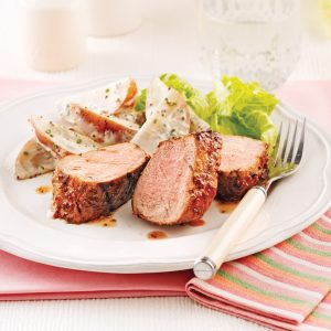 Filet de porc laqué au cidre