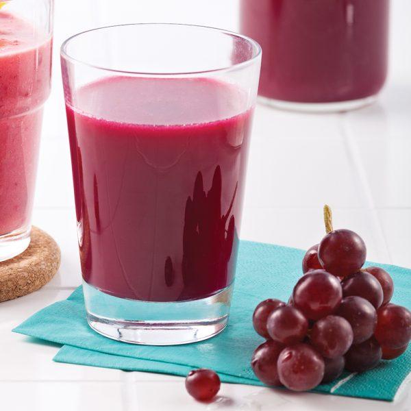 Jus de betteraves et raisins rouges