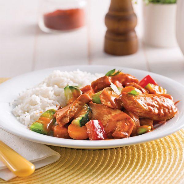 Mijoté de légumes et poulet au paprika pour sacs à congeler