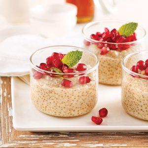 Pouding au quinoa, amandes et miel