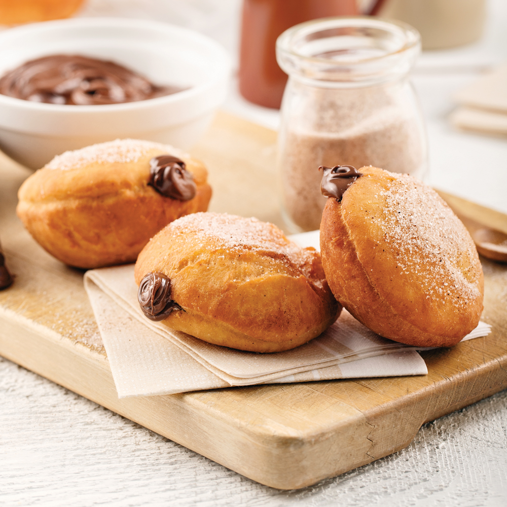 Beignes farcis au Nutella