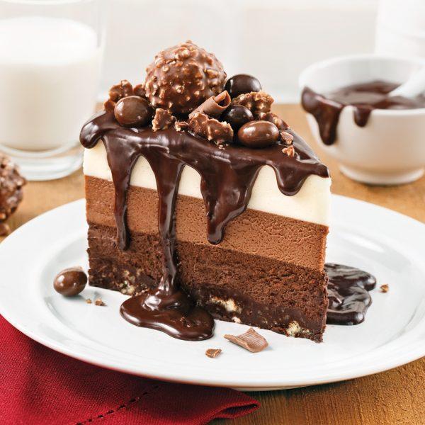 Gâteau-mousse aux trois chocolats